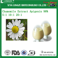 high purity Matricaria recutita L Chamomile Flower Extract Powder Apigenin 1%, 2%, 10%, 98%