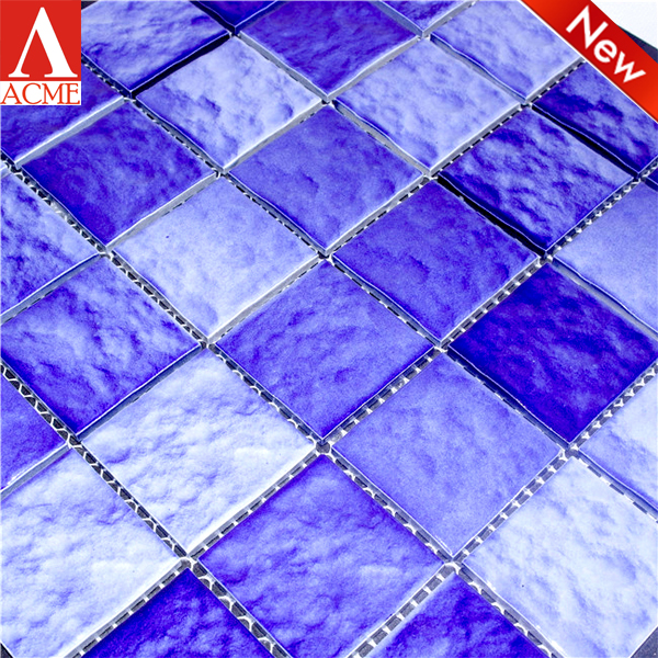 china manufacture swimming pool bule ceramic mosaic floor and wall tile