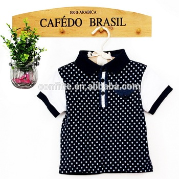 Wholesale fashion polo t-shirt baby boy boutique top kids t-shirts summer wearing