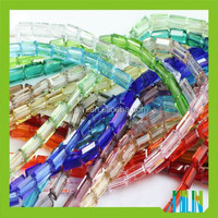 Cuboid Cheap Glass Loose Beads for Jewelry Making on Alibaba