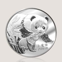 Zinc alloy 3d embossed sign custom souvenir aluminum silver metal chinese panda coin