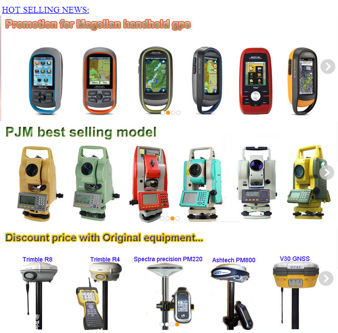 High accuracy PJK NA NA Pro F70 F78 profession handheld gps