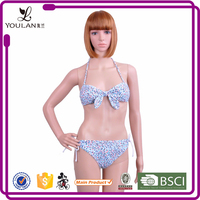Manufacture Gorgeous Push Up Strappy Clear Plastic Bikini