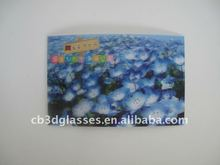 beautiful blue lotus 3d flipping effect posters