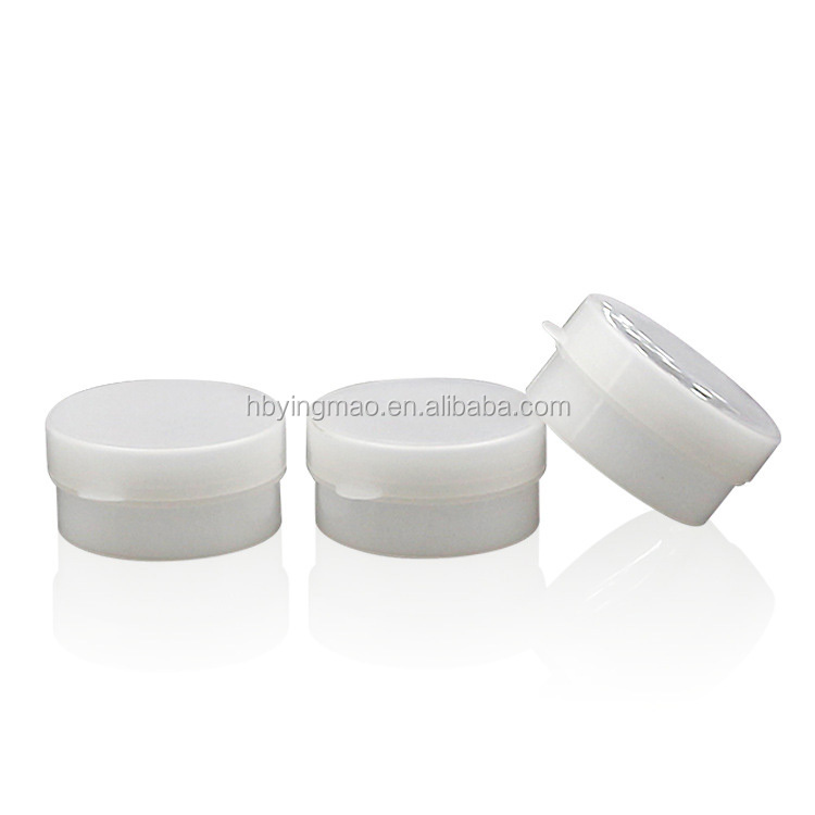 YM 5g mini small cosmetic cream container white plastic jar