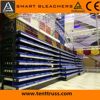 telescopic seating retractable bleachers retractable grand stand stadium sports