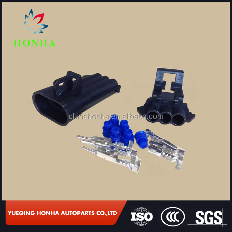 DJ7032Y-1.5-11 21 Delphi GM LS LS6 ignition Coil 3 Pin male and Female wire harness Connector