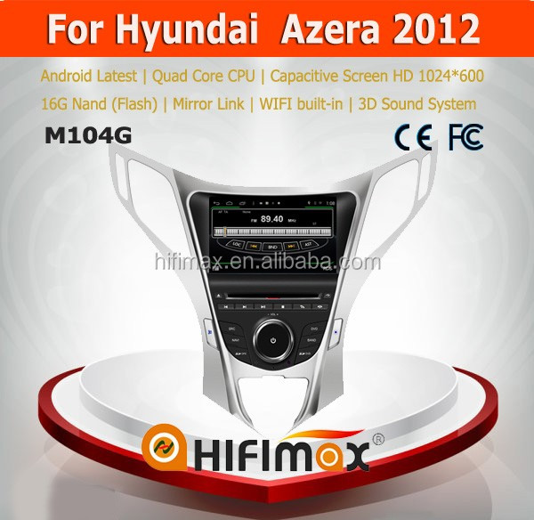 Hifimax Hyundai Azera 2012 auto radio Dvd gps player/car dvd gps navigation for Hyundai Azera 2012 car dvd gps navigation