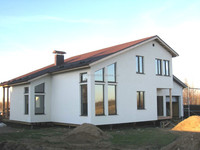 PREFABRICATED ENERGY EFFICIENT WOODEN FRAME HOUSES AND FAST ASSEMBLING CONSTRUCTIONS