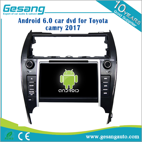 HD android 6.0 touch screen car dvd player for Toyota Camry 2017 with WIFI/USB/RDS/BT/OBD2
