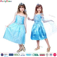 amazing snowflake organdy hot selling styles frozen princess elsa costume