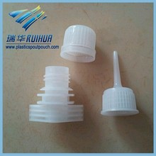Easy open pilfer-proof twist cap for plastic pouch spout
