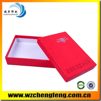jewelry paper box with red logo printed