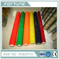 pvc colored roll plastic transparent color film used for book covering