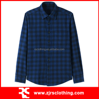 Mens Long Sleeve Casual Shirt Fashion Plaid Shirt