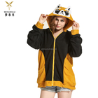 plus size wholesale embroider cheap animal hoodie custom