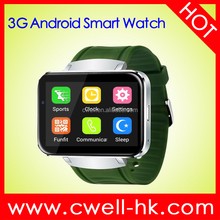 2.2 inch touch screen Android 4.4 WIFI GPS SOS Pedometer 3G android smart watch Phone Single SIM card Alps DM98