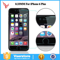 Wholesale mobile phone for iPhone 6 plus 9H 2.5D tempered screen protector 0.3mm glass protector screen