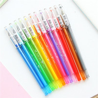 Hot Sale wholesale international ltd korean stationery promotional glitter ink pens 0.5mm 12 color gel pen set