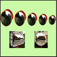 PC safety motorcycle convex mirror
