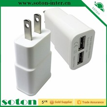 high quality US plug white universal business card phone charger