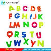China Manufacturer Alphabet Shaped Sticky Notes