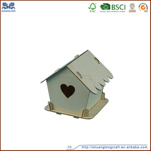 Shuanglong supply outdoor small wood crafts bird house