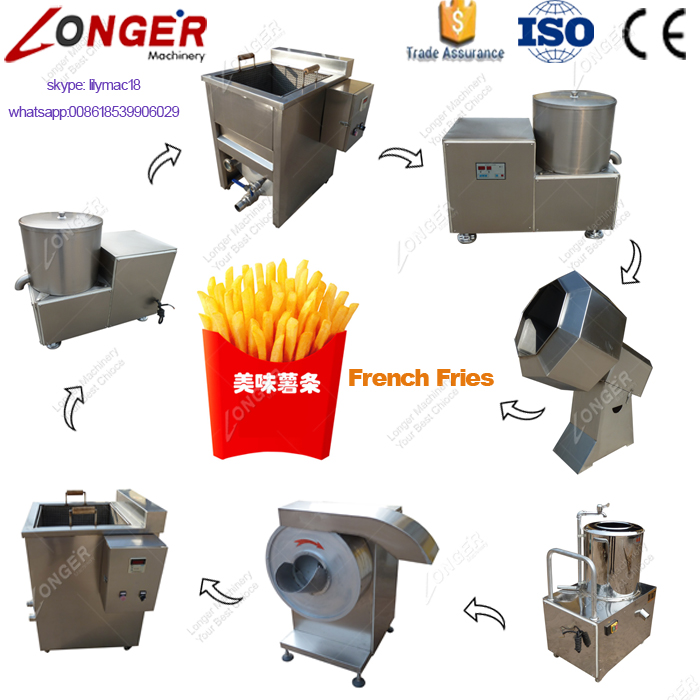 Manufacturers Supply French Fries Maker Machine Production Line Fried Potato Chips/ Stick Machine