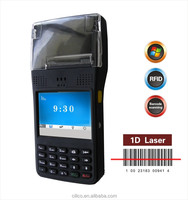 "3.5"" color-screen rugged thermal POS printer mobile equipped 1D barcode scanner,GPS,RFID reader."