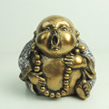 Indoor decorative gold funny polyresin buddha statue