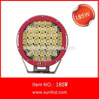 Wholesale ARB Round led work light 9inch 185w led driving light offroad, 5w* 37leds 185w led driving light