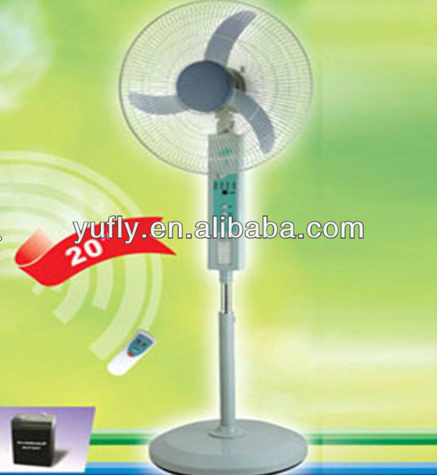 Electrical Rechargeable charger fan with remote controll Stand rechargeable fan