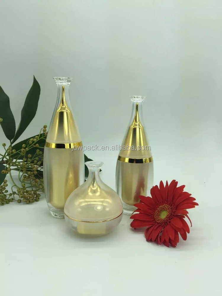 new design bowling ball shape acrylic cosmetic bottles and jars set