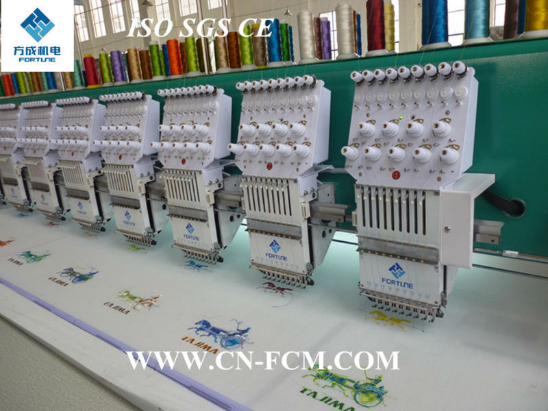15 head 9 needles flat HIGH SPEED computerized embroidery machine FC-HFG915, ISO, SGS, CE