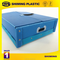 eco-friendly cheap pp corrugated box with plastic handle