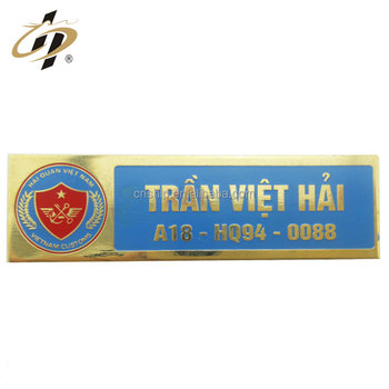 Promotional Custom High Quality Epoxy Metal Name Badge with LOGO