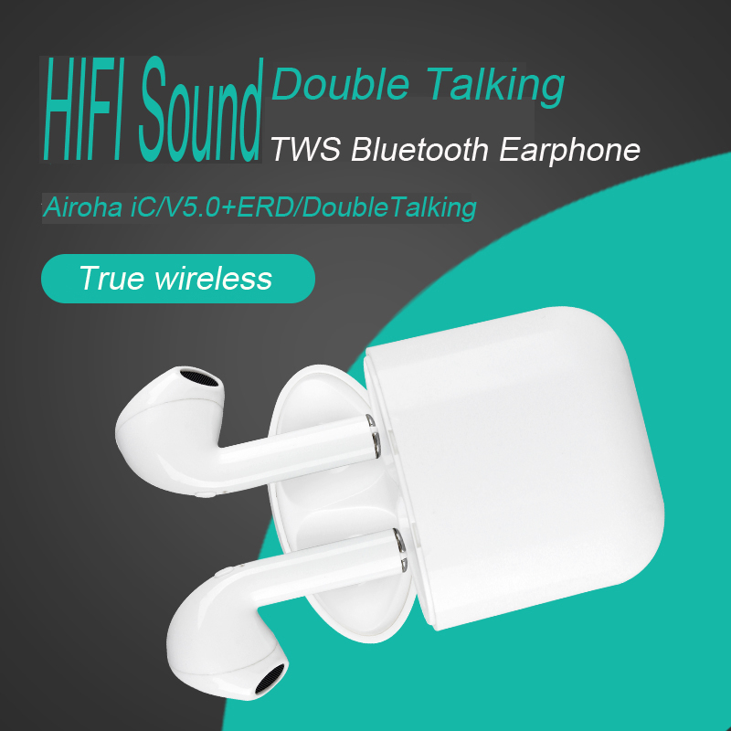 Double talking ture stereo v4.2/5.0 wireless In-Ear Style i9s mini blue tooth earphone for air pods