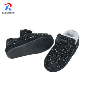 wholesale soft comfortable pv plush flat casual shoes for women