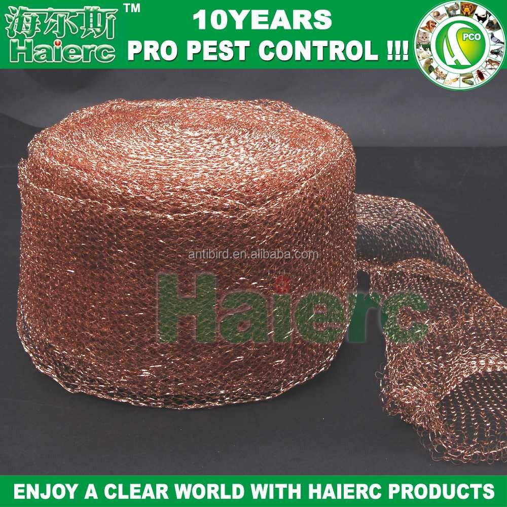 "Haierc Copper Mesh 5""x100FT 100% Copper wire mesh rodent For Bat Control,Insect Control"