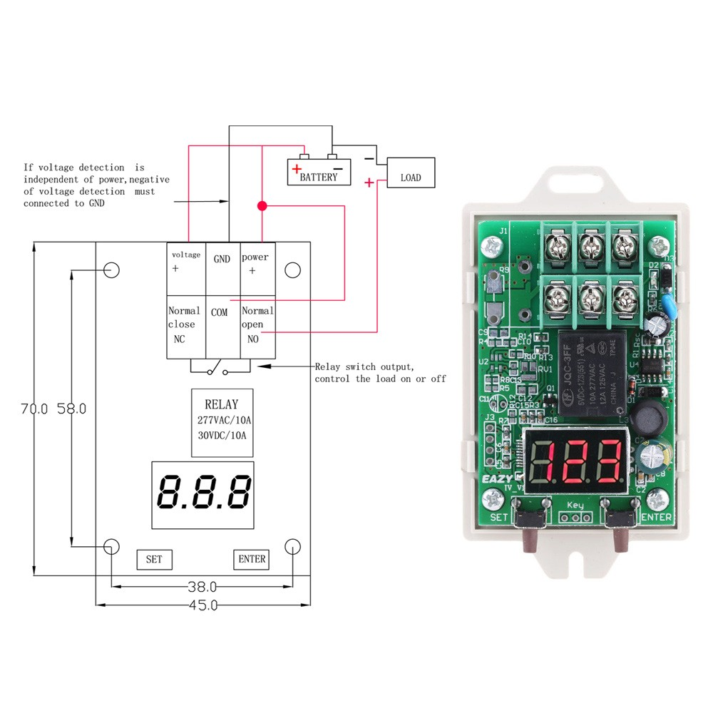 Iv U3 12 V 24 Vdc Voltage Digital Control Relay Switch Over Power Switchover 6