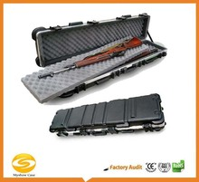 "53"" Long Molded ABS gun Rifle case with high density foam padding,custom logo one piece alminum rifle carry case"