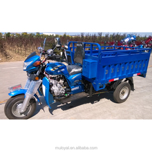 China open body type three wheel motorcycle/cargo tipper trailer hydraulic 3 wheels