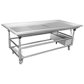 Stainless Steel Cold Food Display Table/ Seafood Display Table