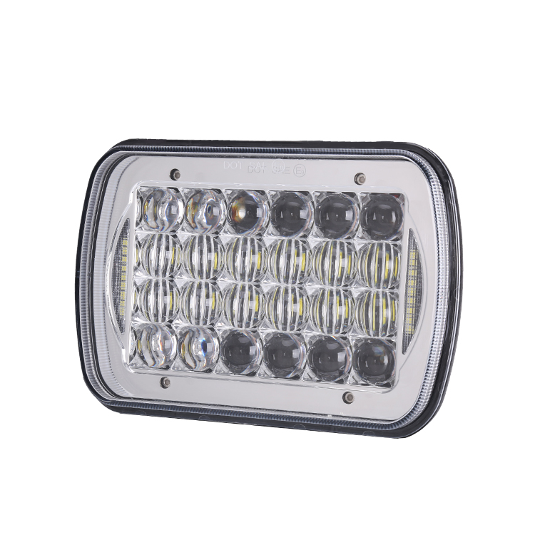 Super Brightness! 72W LED truck lights high low beam 6X7 square 5X7 7'' led headlight