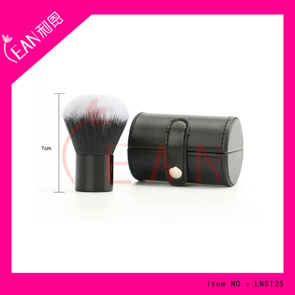 2017 big synthetic hair black ferrule kabuki brush with case