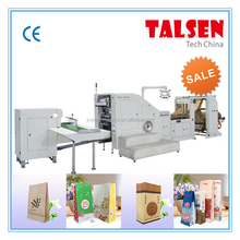 Manual attached handle shopping paper bag making machine with ISO standard