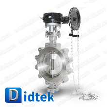Didtek 100% Test CF8M Lug Type Triple Offset Butterfly Valve With Blow-out Proof Shaft