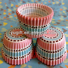 Super MINI pink blue circles cupcake liners muffin baking cups cases/Holiday Candy Cups