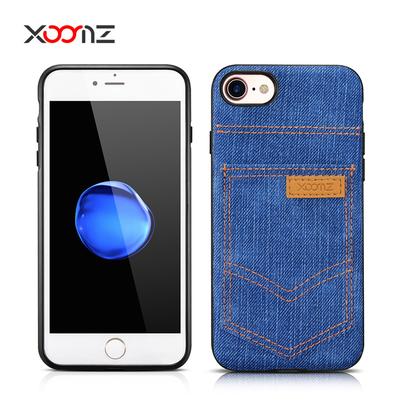 XOOMZ Custom Phone Case for Apple iPhone 7 plus Wallet Case Back Cover for iPhone7 with Credit Card Slot