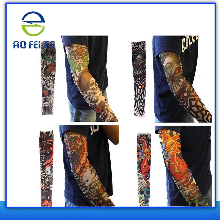 New Products 2015 Innovative Product Body Art Arm Stockings Slip Accessories Fake Temporary Tattoo Sleeves